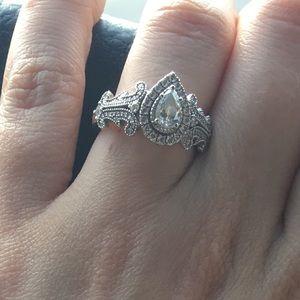 Vera Wang Jewelry Zales Pear Engagement Ring 55 Poshmark